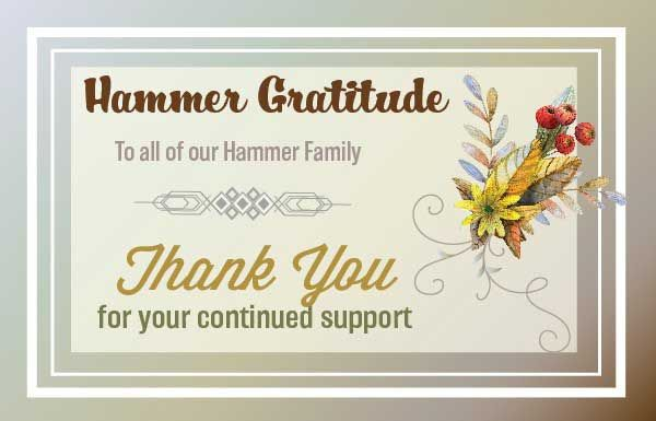To Our Dear Hammer Nutrition Family,